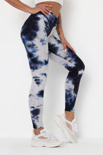 High Waist Waffle Tie Dye Leggings S / Color7