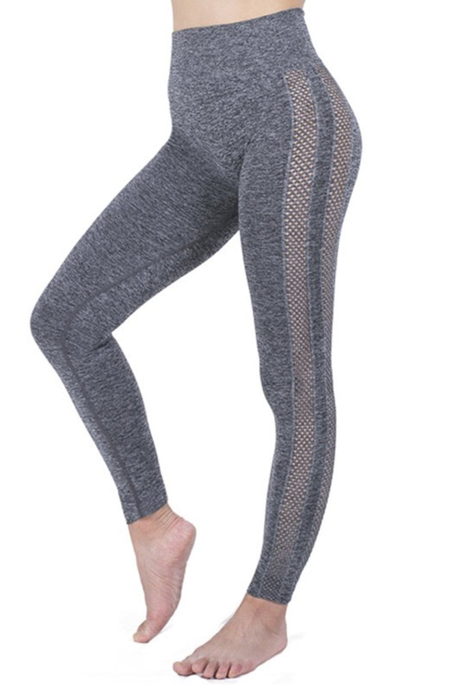 High Waist Side Net Leggings
