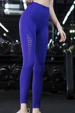 High Waist Perforated Yoga Pants S / C1 Leggings