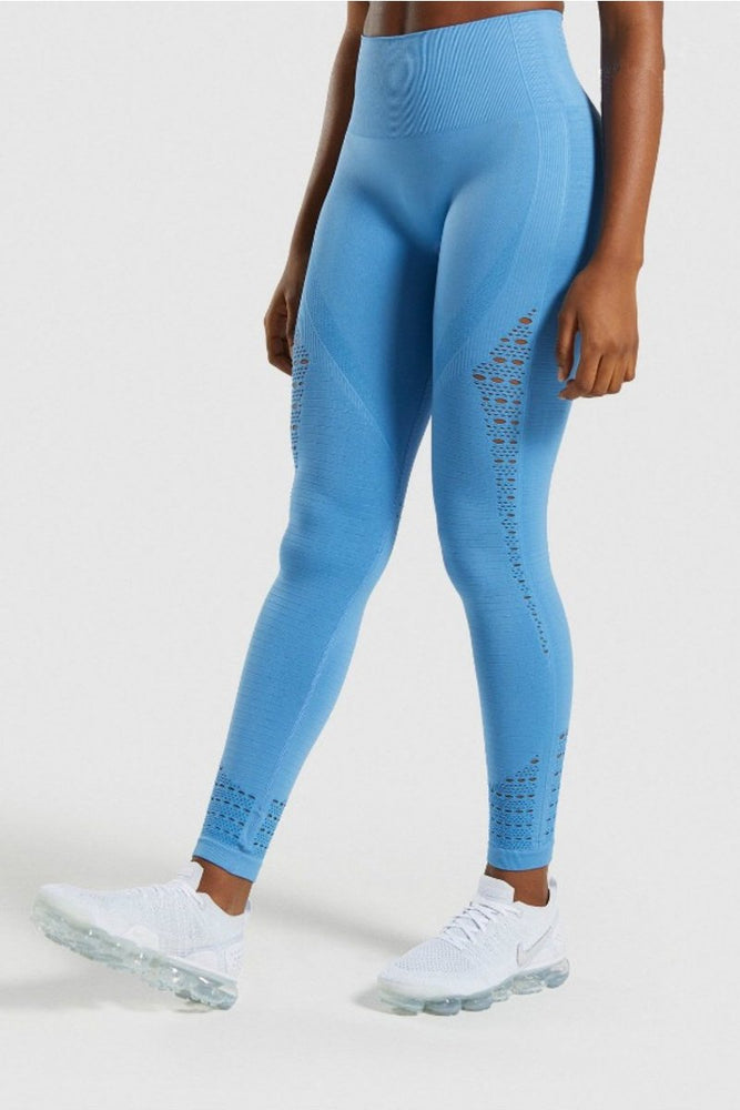 High Waist Perforated Yoga Pants S / C2 Leggings
