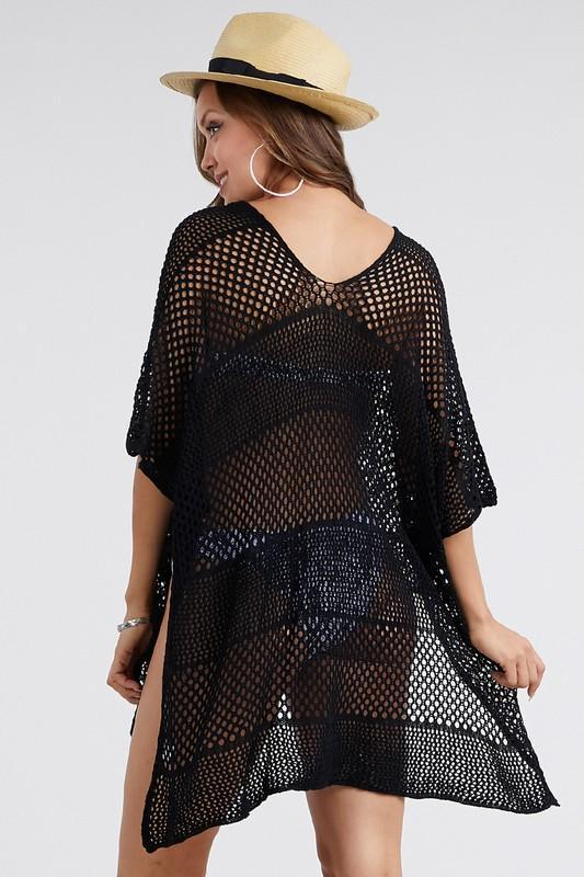 Wholesale Summer New Black Loose Swimsuit Cover Ups
