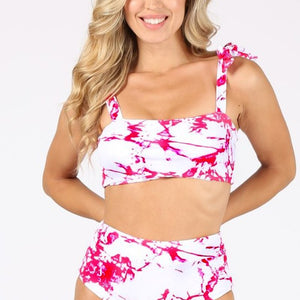 HS Tie Dye High Waist Bikini set
