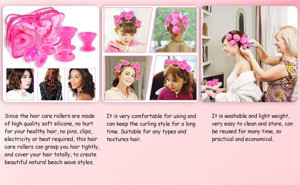 Silicone Hair Curler (Pack of 10pcs)