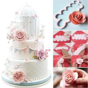 3D Rose Fondant Cutter (Set of 3pcs)