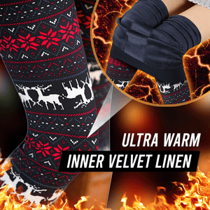 Christmas Print Warm Leggings