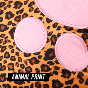 Plush Animal Print Foot Warmer