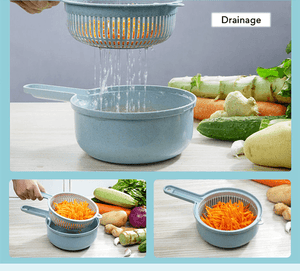 9 in 1 Multi-function Easy Food Chopper with Container (1 Whole Set)