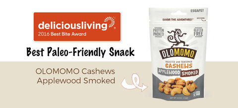 Olomomo wins best paleo friendly snack applewood smoked cashews