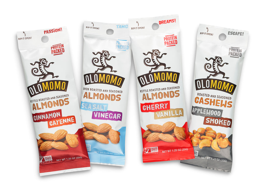 Tiny Taste OLOMOMO Sampler Pack - 4 single serving bags to taste before you buy a bunch