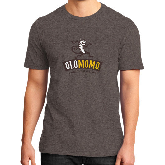 District T-Shirt (on man) Heather brown OLOMOMO Nut Company