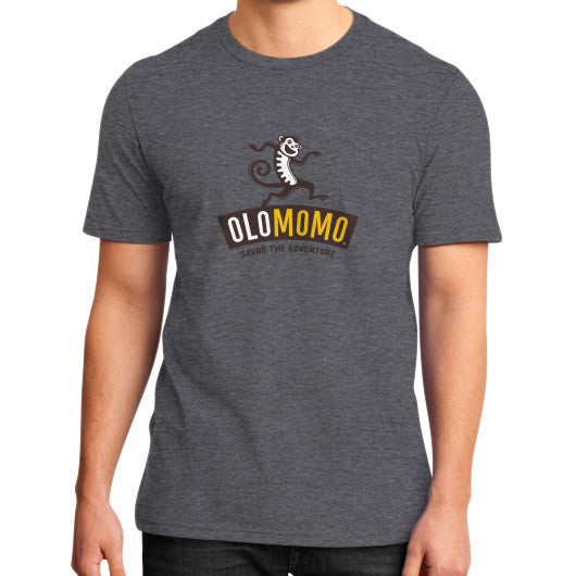 District T-Shirt (on man) Heather charcoal OLOMOMO Nut Company