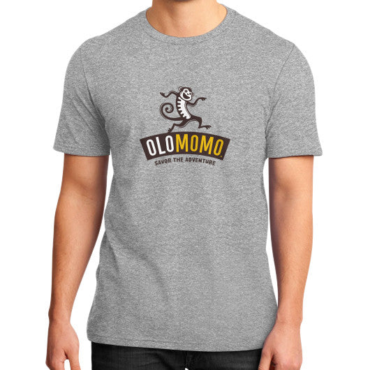 District T-Shirt (on man) Heather grey OLOMOMO Nut Company