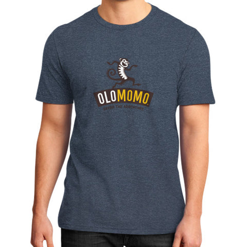 District T-Shirt (on man) Heather navy OLOMOMO Nut Company
