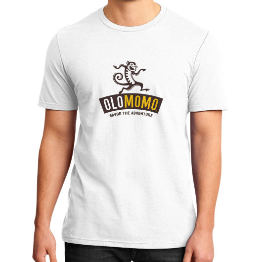 District T-Shirt (on man) White OLOMOMO Nut Company