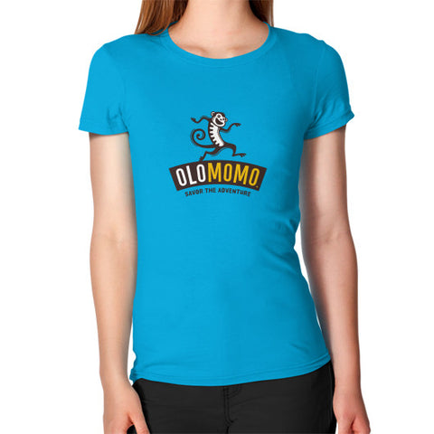 Women's T-Shirt Teal OLOMOMO Nut Company