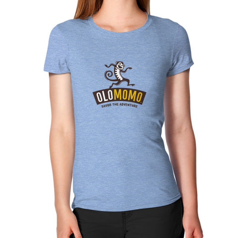 Women's T-Shirt Tri-Blend Blue OLOMOMO Nut Company