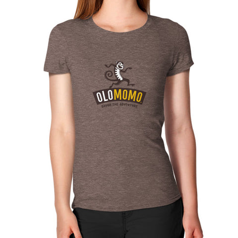 Women's T-Shirt Tri-Blend Coffee OLOMOMO Nut Company