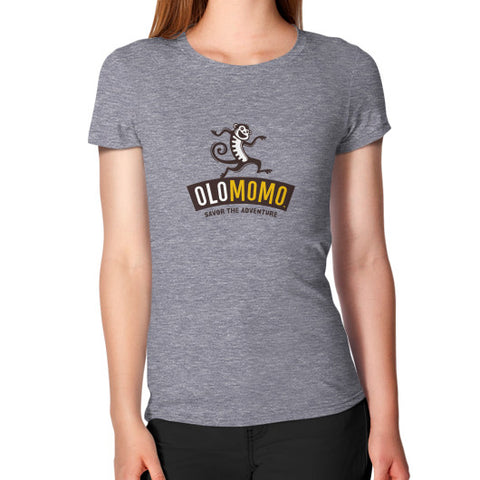 Women's T-Shirt Tri-Blend Grey OLOMOMO Nut Company