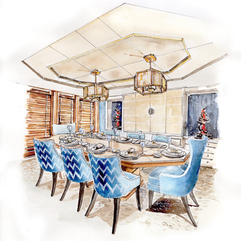 M Y Perfect Persuasion Dining Room Interior Design Render