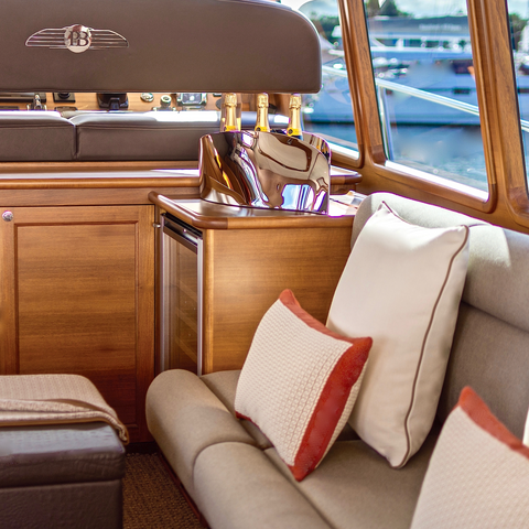 Palm Beach Motor Yachts Interior Design by Boat Style
