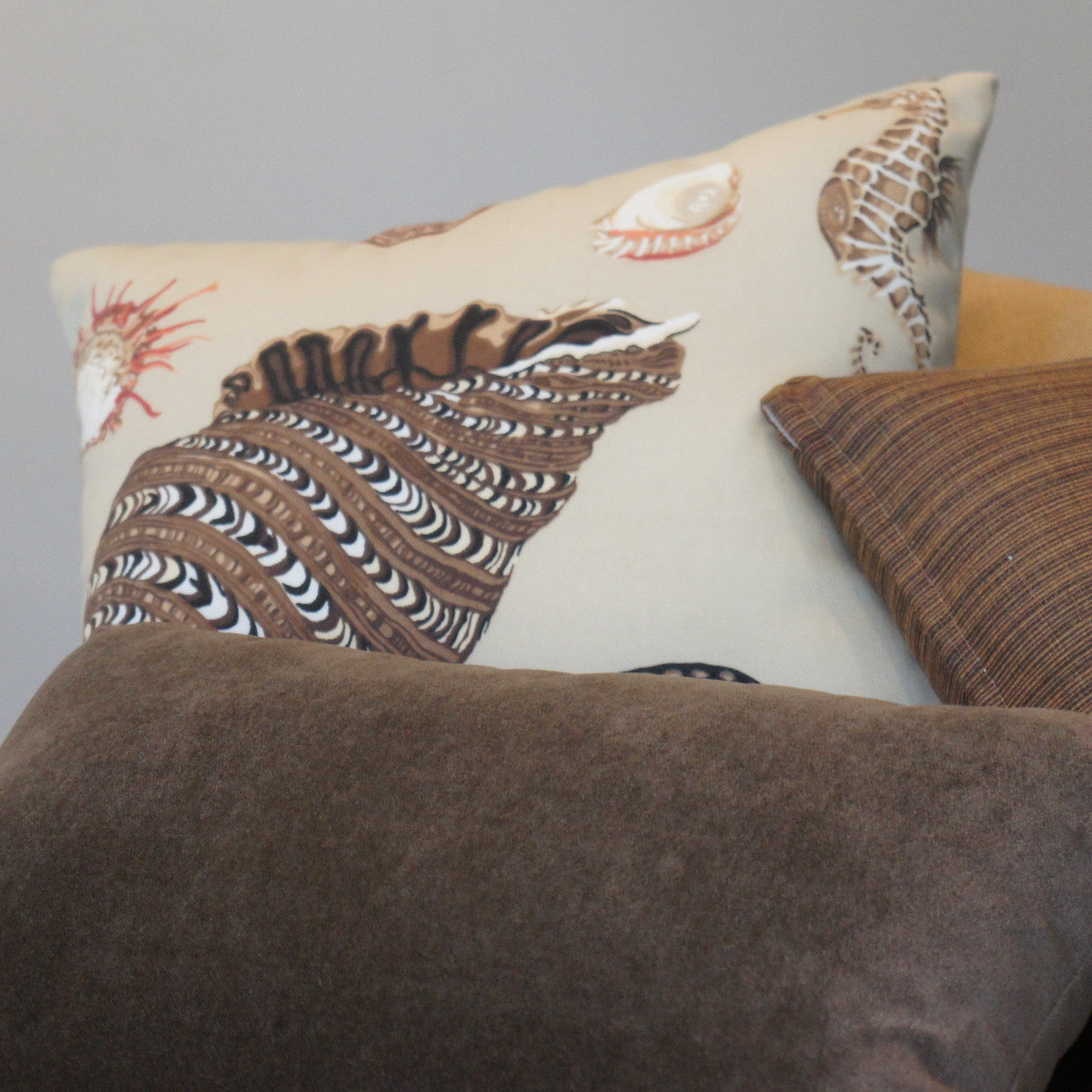 and pillow seashells pin pillows lumbar house seashore beach