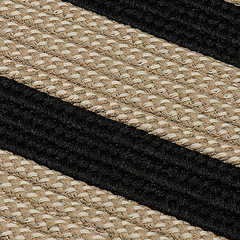 Boat House Braided Mat Black