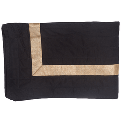 Bandhini Black & Gold Braid Bed Sash