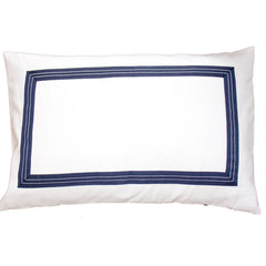 Bandhini Navy Denim Braid Pillow Sham