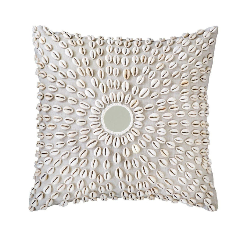 Bandhini Natural Kauri Mirror Medium Cushion