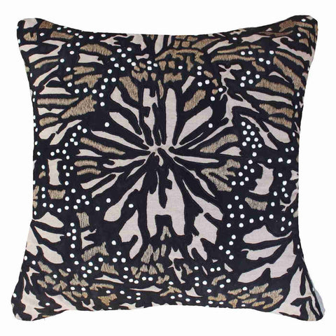 Bandhini Outdoor Black Butterfly Cushion