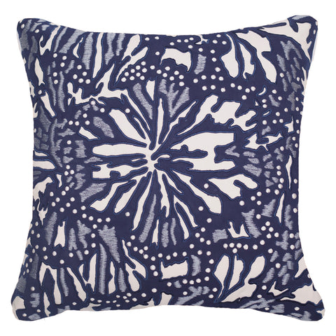 Bandhini Outdoor Navy Butterfly Cushion
