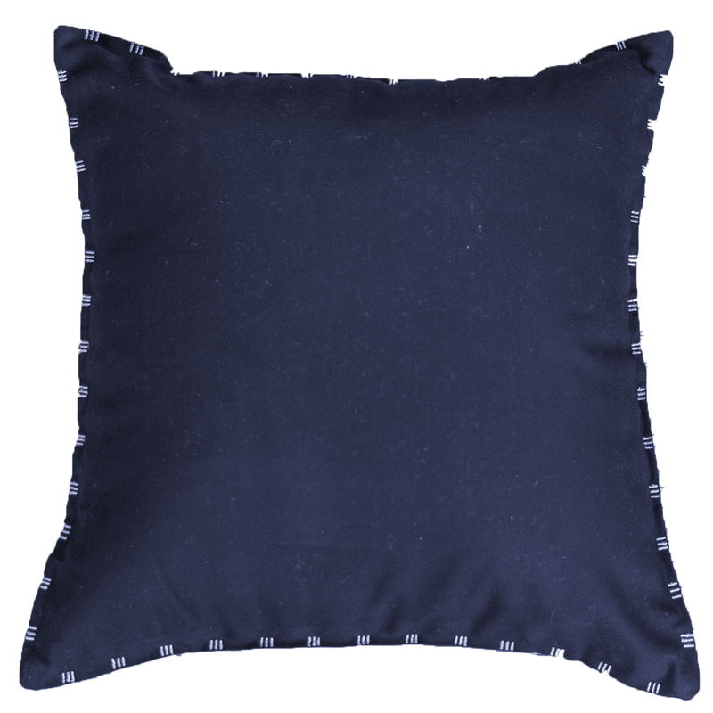Bandhini Outdoor Navy & White Reverse Lounge Cushion