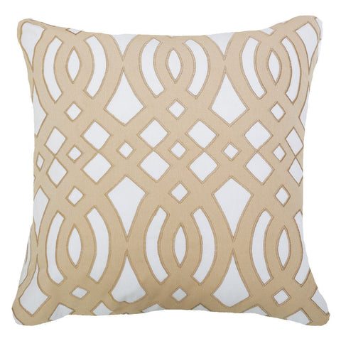 Bandhini Outdoor Natural Diamond Scroll Lounge Cushion