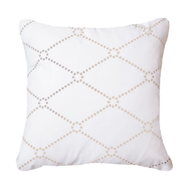 Bandhini Outdoor Natural Dots Lounge Cushion