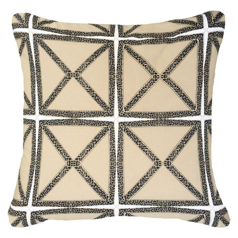 Bandhini Outdoor Natural Mosaic Cushion