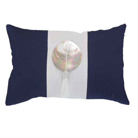 Bandhini Outdoor Navy Tassel Cushion
