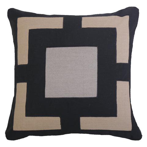 Bandhini Outdoor Black Panel Cushion