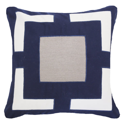 Bandhini Outdoor Navy Panel Cushion