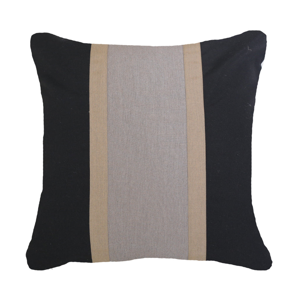 Bandhini Outdoor Black Raffia Lounge Cushion