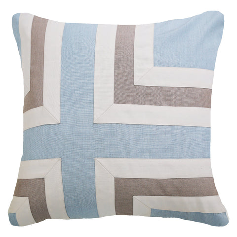 Bandhini Outdoor Celladon Regent Cross Cushion