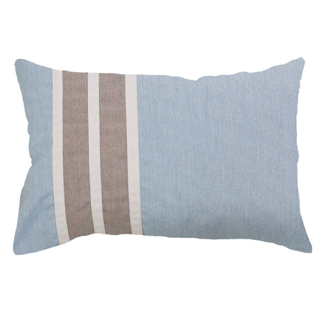 Bandhini Outdoor Celladon Regent Stripe Lumber Cushion