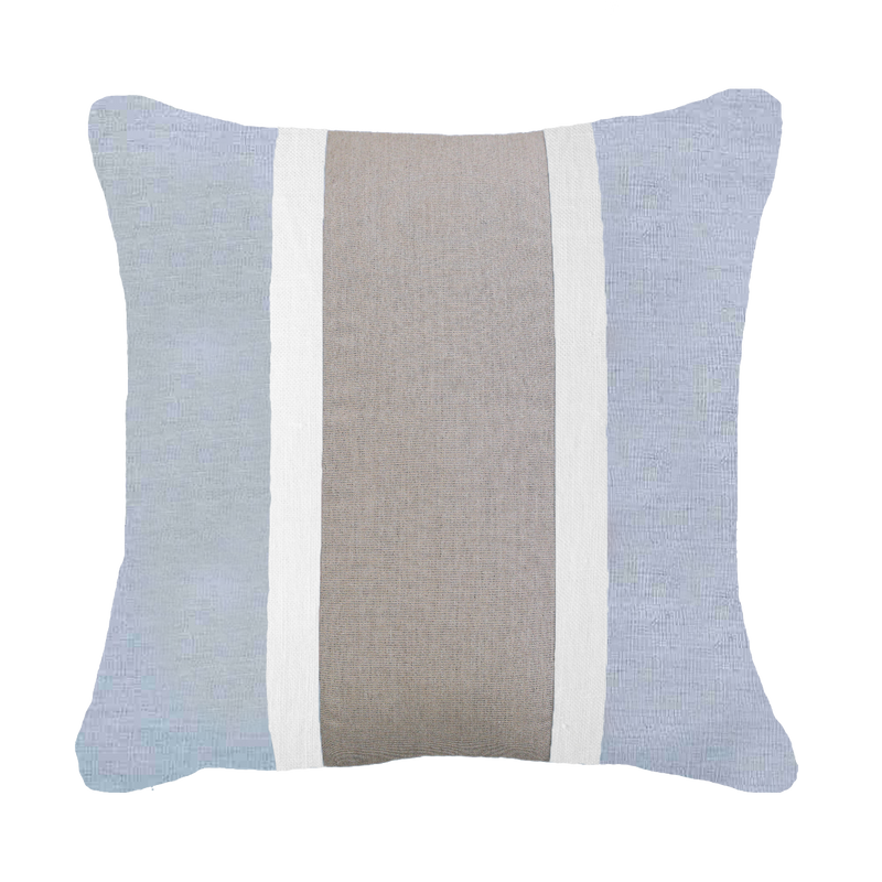 Bandhini Outdoor Cloud Taupe Raffia  Cushion