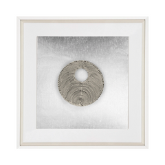 Bandhini  Silver Disc Wall Art