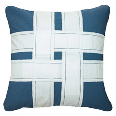 Bandhini Outdoor Storm Cross Sash Lounge Cushion