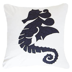 Bandhini Navy Sea Horse Lounge Cushion