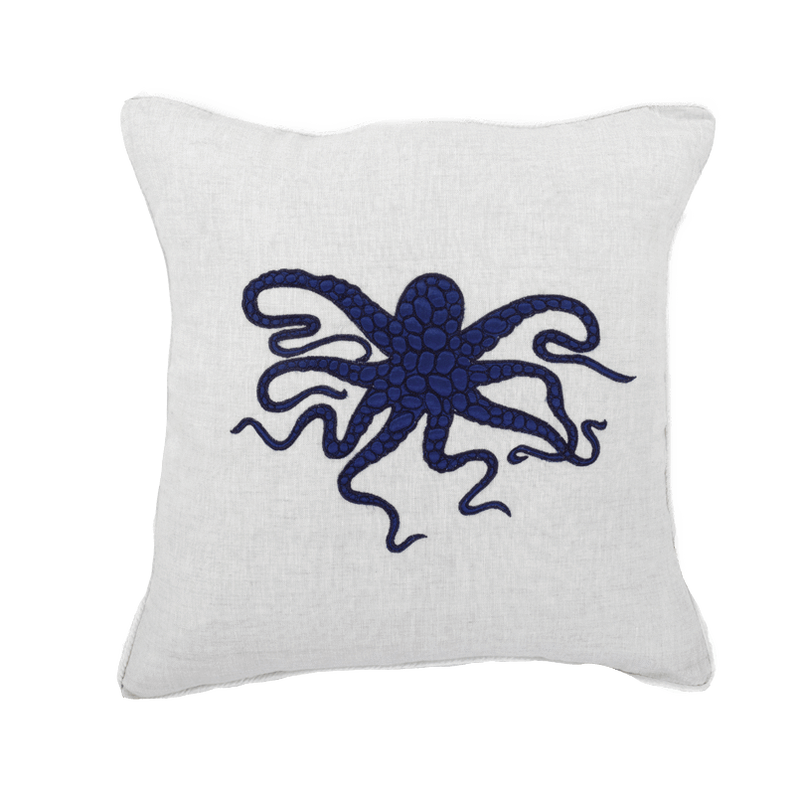Bandhini Navy Octopus Lounge Cushion
