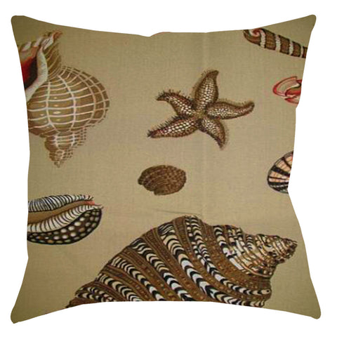 Shell Beach Conch Sunbrella Outdoor Cushions & Pillows