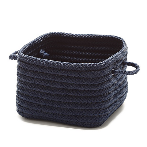 Simply Home Braided Basket Navy