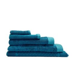 Softest and most absorbent bamboo and cotton towels in teal