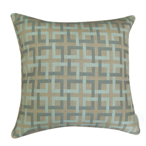 Lagoon Block Sunbrella Outdoor Pillow